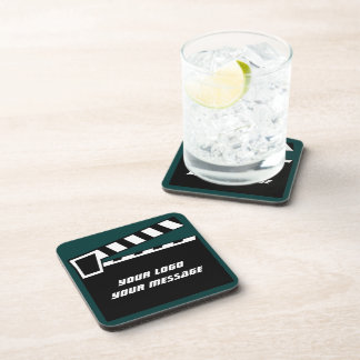 Movie Slate Clapperboard Board Beverage Coasters