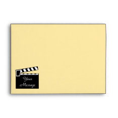 Movie Slate Clapperboard Board Envelope at Zazzle