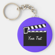 Movie Slate Clapperboard Board Keychain at Zazzle
