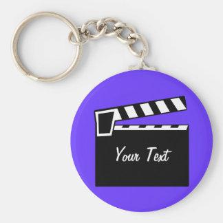Movie Slate Clapperboard Board Keychain