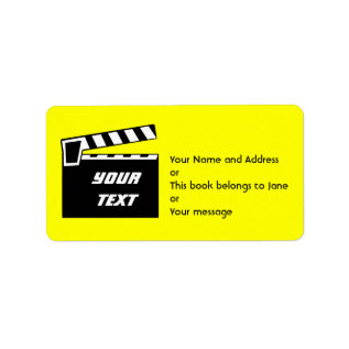 Movie Slate Clapperboard Board Label at Zazzle