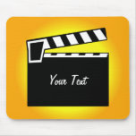 Movie Slate Clapperboard Board Mouse Pad at Zazzle