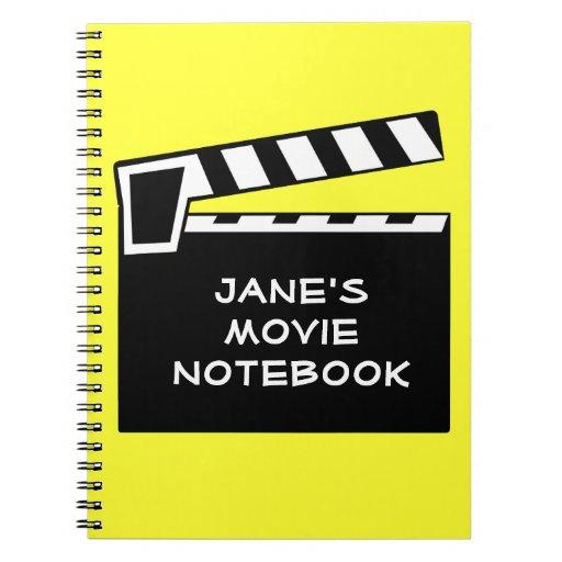 Movie Slate Clapperboard Board Notebook