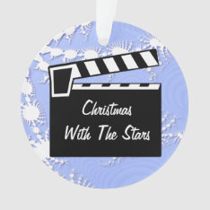 Movie Slate Clapperboard Board Ornament at Zazzle