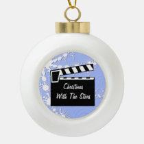 Movie Slate Clapperboard Board Ornaments at Zazzle