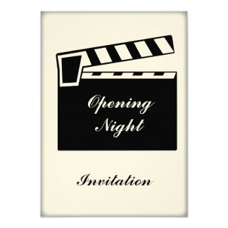 Movie Slate Clapperboard Board Party Event Card