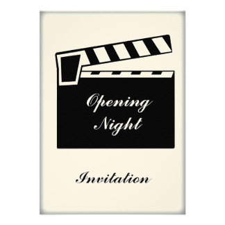 Movie Slate Clapperboard Board Party Event Personalized Invitations