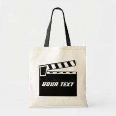 Movie Slate Clapperboard Board Tote Bag at Zazzle