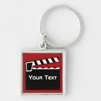 Movie Slate Clapperboard Luggage Laptop Zip Pull Keychain