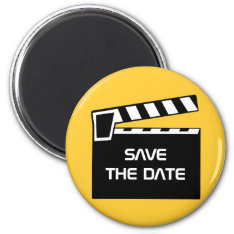 Movie Slate Clapperboard Save The Date Magnet at Zazzle