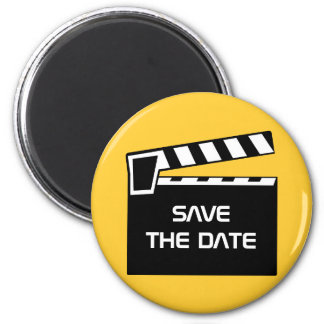 Movie Slate Clapperboard Save The Date Magnet