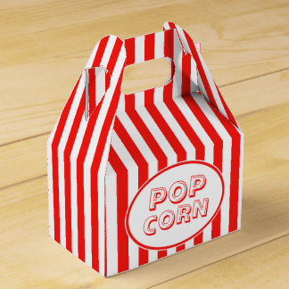 Movie Snack Bar Red And White Pop Corn Favor Box