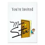 Movie Star 5x7 Paper Invitation Card