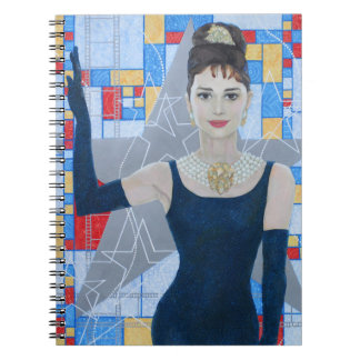 Movie Star Actress Old Hollywood fine art portrait Notebook