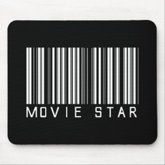 Movie Star Bar Code Mouse Pad