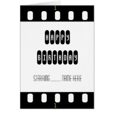 Movie Star Film Strip With Star's Birthday Card at Zazzle
