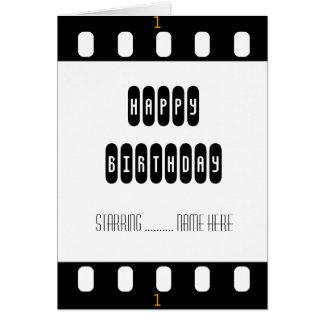 Movie Star Film Strip with Star's Birthday Card Cards