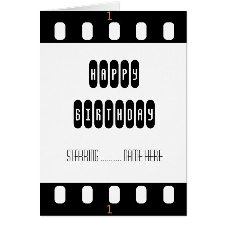 Movie Star Film Strip With Star's Birthday Card
