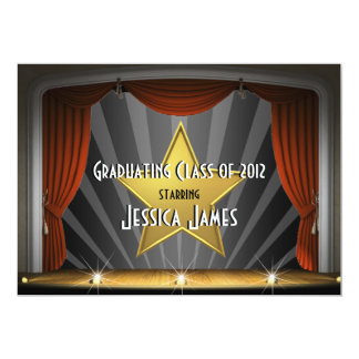 Movie Star - Graduation Invitation