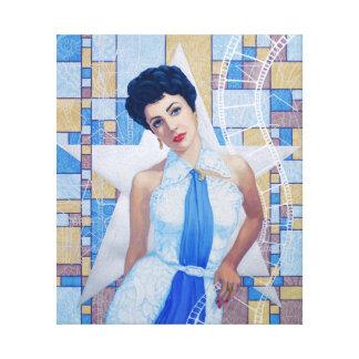 Movie Star Icon 20th Actress fine art portrait Canvas Print