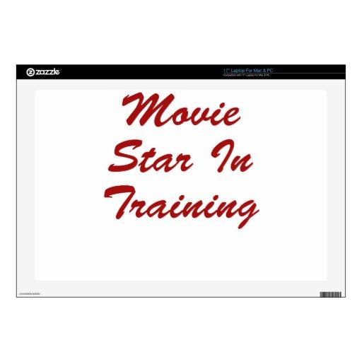 "Movie Star In Training 17"" Laptop Skin"