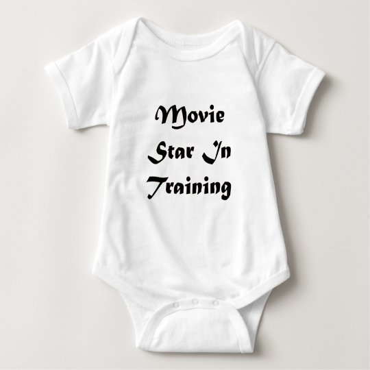 Movie Star In Training Baby Bodysuit
