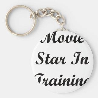 Movie Star In Training Basic Round Button Keychain