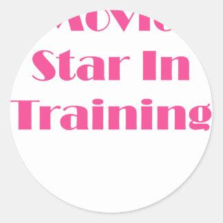Movie Star In Training Classic Round Sticker