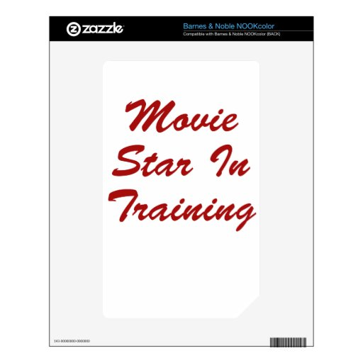 Movie Star In Training Decals For The NOOK Color