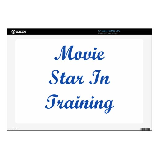 Movie Star In Training Laptop Decal