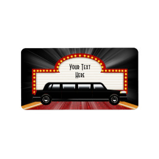 Movie Star Limo and Marquis Address Labels