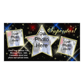 Movie Star Modeling Custom Designer Photo Card