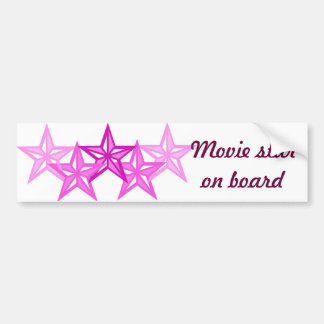 Movie star on board bumper sticker
