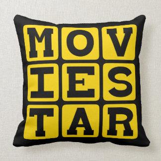Movie Star, Popular Actor Throw Pillow