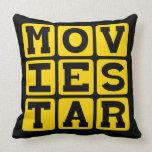 Movie Star, Popular Actor Throw Pillows