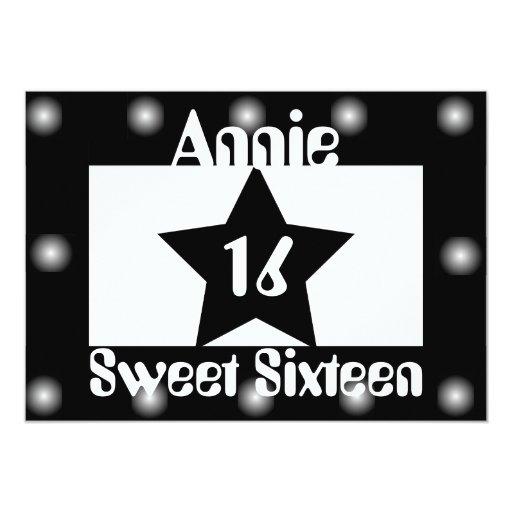 Movie Star Sweet Sixteen Invitation-Customize Card