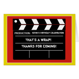 Movie Star Thank You Card