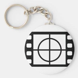 movie start icon basic round button keychain