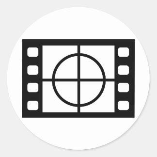 movie start icon classic round sticker