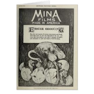 Movie studio 1915 humorous Easter card