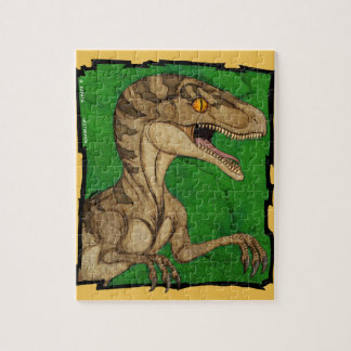 Movie style vintage velociraptor jigsaw puzzle