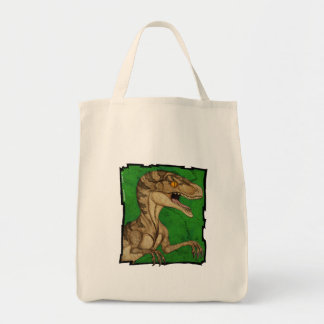 Movie style vintage velociraptor tote bag