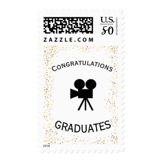 Movie Theate Polka Dot Congratulations Postage