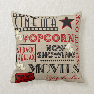 Movie Theater Cinema Admit one ticket Pillow-Red Pillow