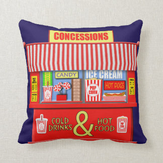Movie Theater Concessions Stand Pillow