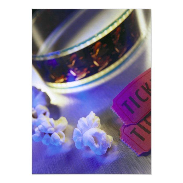 Movie Theater Film, Popcorn & Tickets Card