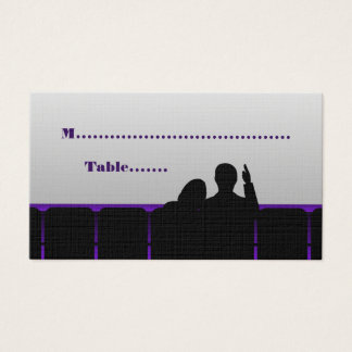 Movie Theater Place Cards, Purple Business Card