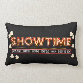 Movie Theater Showtime Pillow- red and gold Pillow
