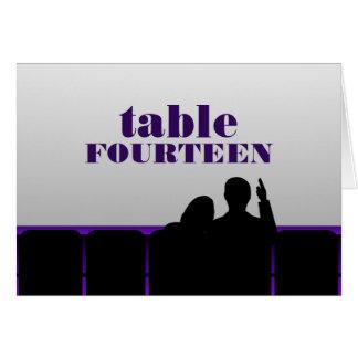 Movie Theater Table Card, Purple Card