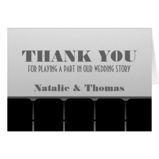 Movie Theater Thank You Card, Gray Card